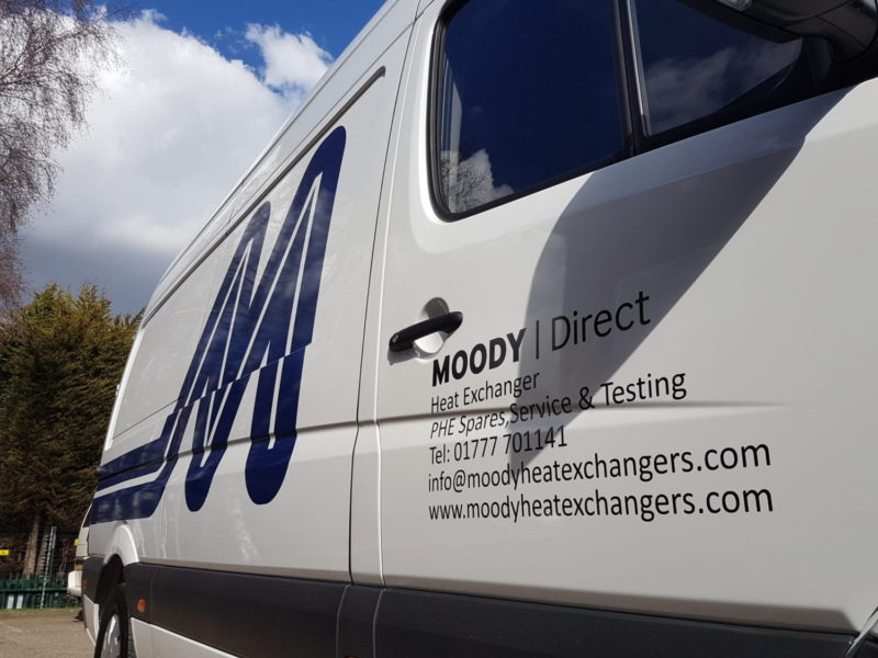 Moody Direct Heat Exchanger Branded Vehicle