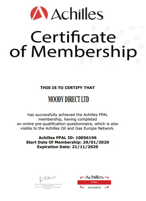 FPAL certificate - Moody Direct